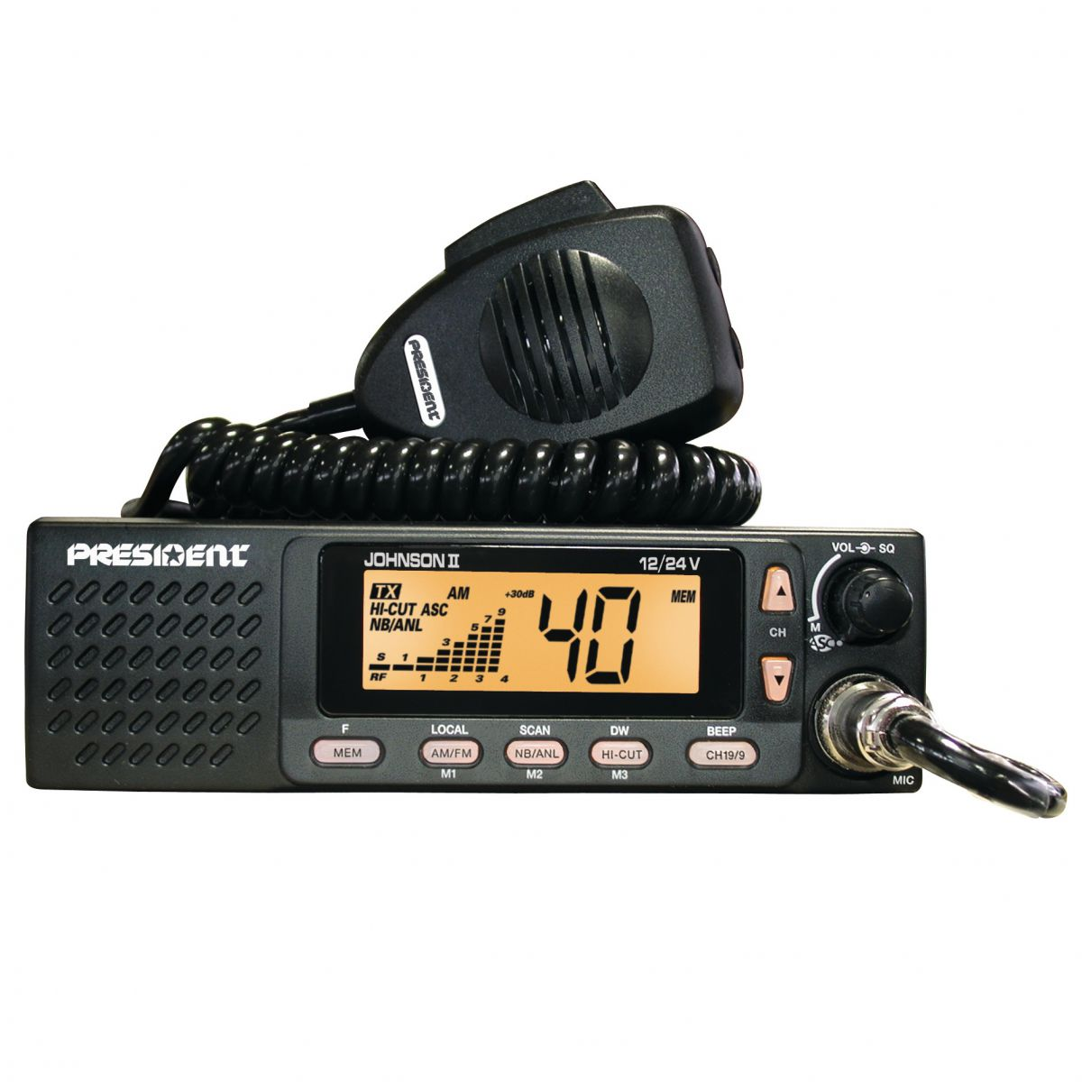 CB rádio PA pripojiť